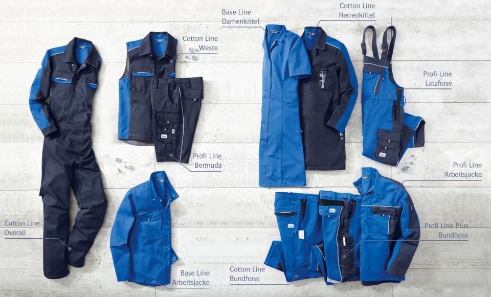 Kombinationsmöglichkeiten der CWS-boco Workwear