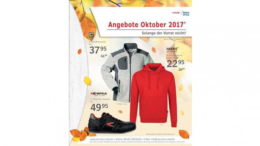 CWS-boco-Shop Angebote Oktober 2017