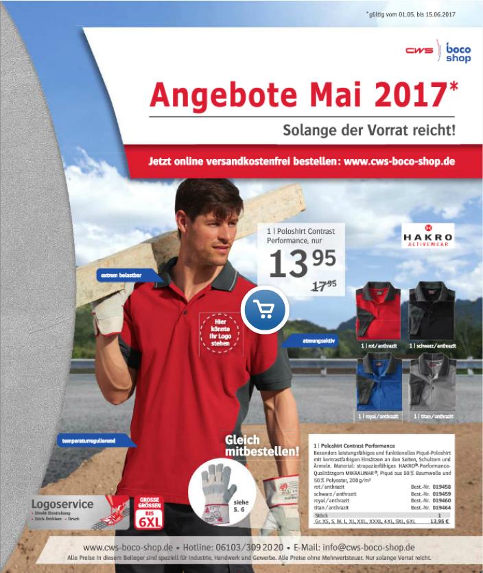Angebote CWS boco Shop Mai 2017