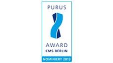 CMS 2013: CWS-boco als Finalist für den CMS Purus Award nominiert