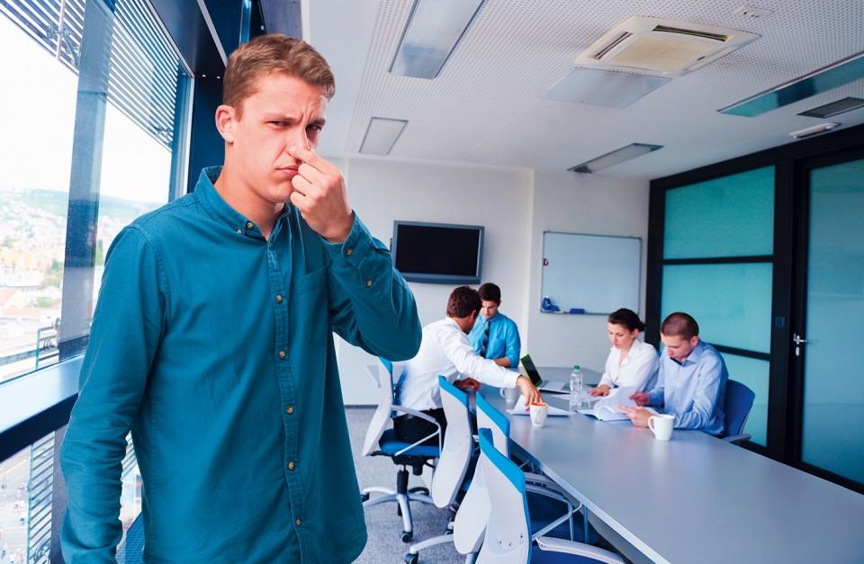 Schlechte Gerüche am Arbeitsplatz