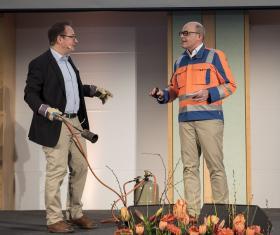 Dirk Baykal (links) und Werner Münnich von CWS-boco