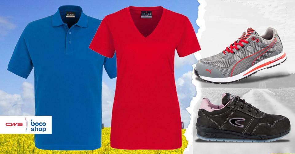 Tshirts und Schuhe im Angebot des CWS-boco Shops