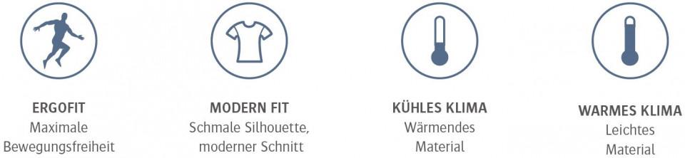 Marvik Vorteile: maxmimale Bewegunsfreiheit, schmale Shilhouette, moderner Schnitt, wärmendes & leichtes Material