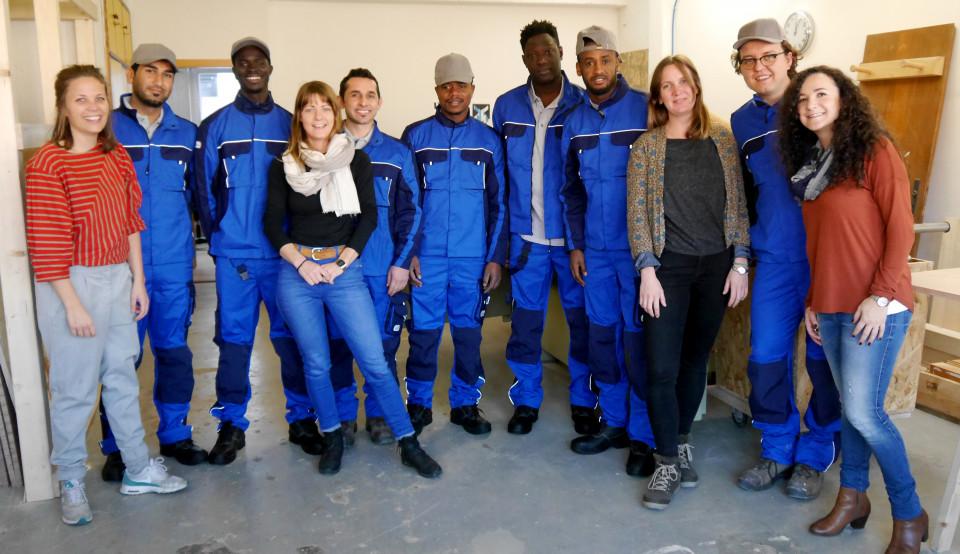 CWS-boco Mitarbeiter bei weserholz