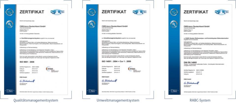 boco Qualität und Zertifizierung Reinraum