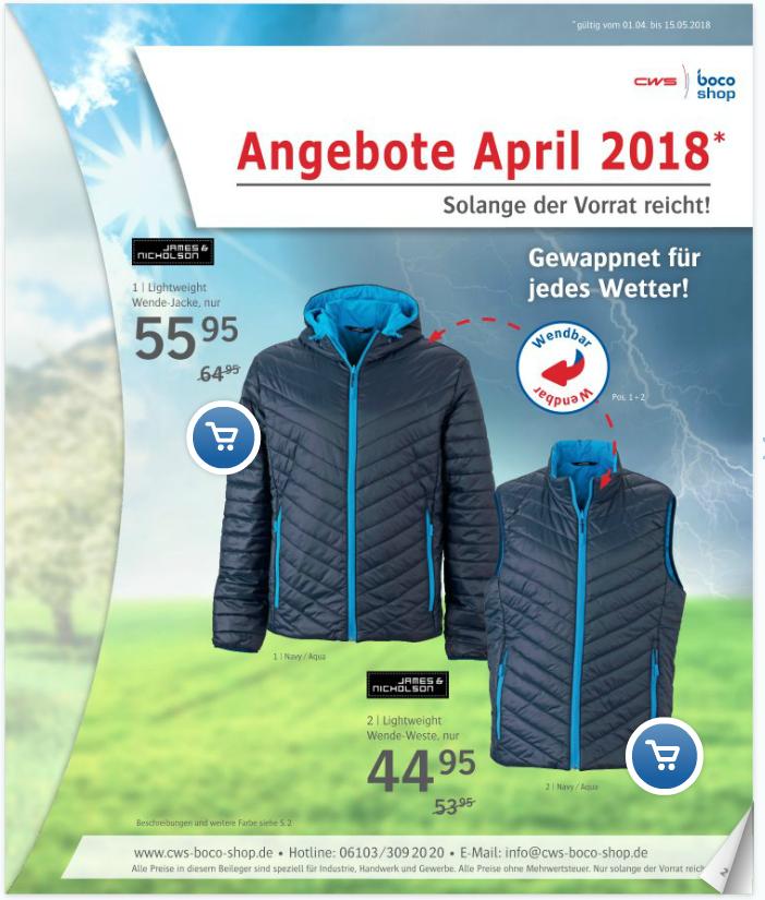 CWS-boco Shop Prospekt April 2018