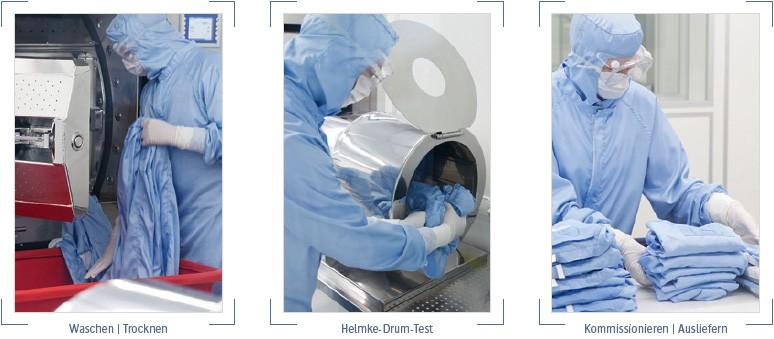 waschen - trocknen - kommissionieren - ausliefern