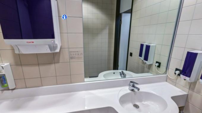360° Ansicht Waschraum
